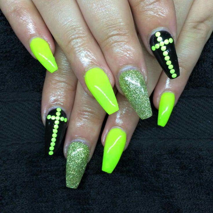 Mejores 16 imágenes de fluo nails en Pinterest | Decoración de uñas ...
