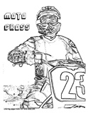 Free Dirt Bike Coloring Page printables