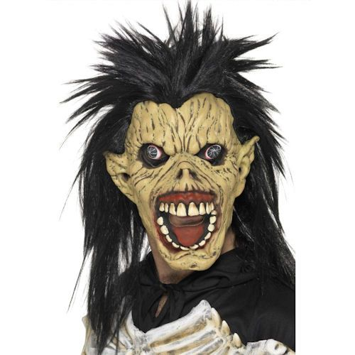 Laughing Zombie Mask Rubber Overhead with Hair £10.50