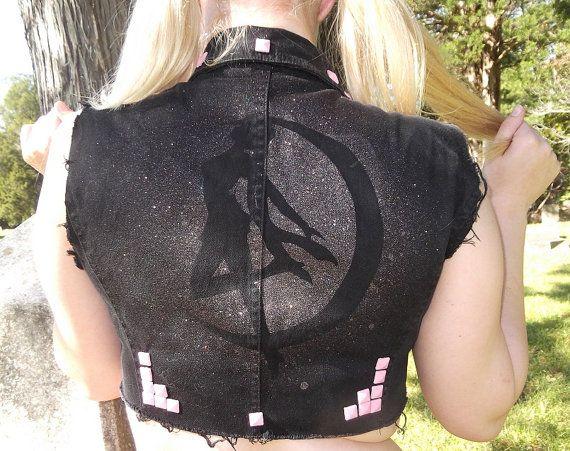 Sailor Moon Crop Vest  ON SALE by LaxBellaxMorte on Etsy, $30.00