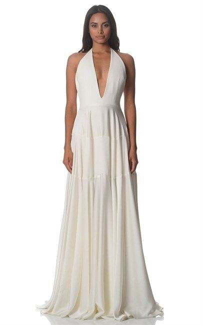 Oh, please be my wedding dress!!! White Pannelled Raven Gown by Alex Perry was $2200 and is now only $660. What a great for this amazing dress!