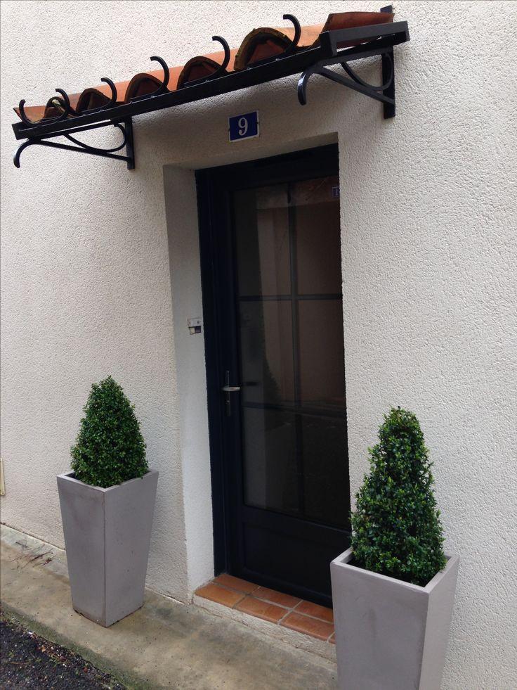 Réalisation d'une porte en PVC plaxé gris 7016 + petits bois, par Delmas Diffusion