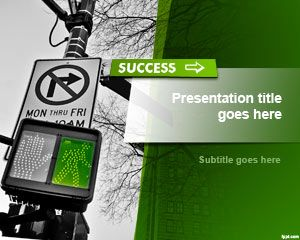 Free Success PowerPoint template is a nice background and slide design for presentations on success, achievement, goals and objectives