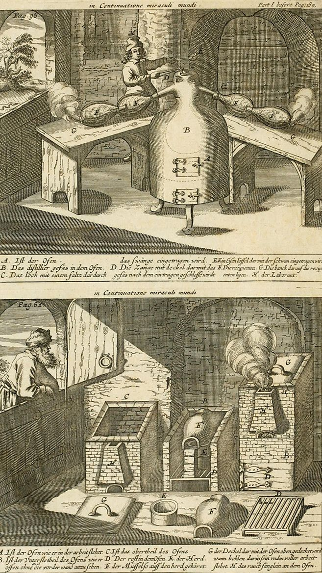 The works of the highly experienced and famous chymist, John Rudolph Glauber - Johann Rudolf - 1689 - from old alchemy book in English