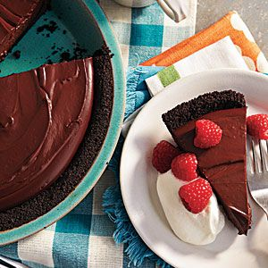 healthy chocolate pudding pie ... great healthy summer recipe ... add raspberries and cool whip ... yum!