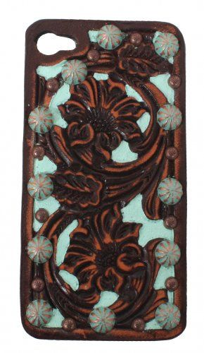 Floral Tooled Vintage Hard Phone Case - I will own this one! #DoubleJSaddlery