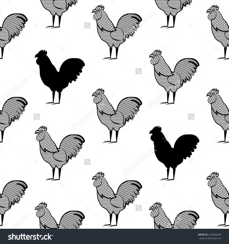 Chicken pattern background. Can be used for wallpaper, pattern fills, textile, web page background, Image for advertising booklets, banners, flyers.