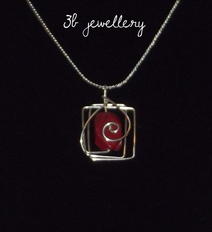 back to #red #tones and #spirals #3bjewellery #wirewrapping #beginner