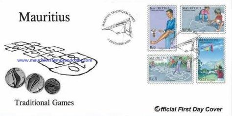 2006 Mauritius Stamps First Day Covers - FDC - Traditional Games