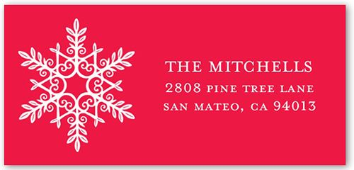 Chic Snowflake Address Label | Christmas Address Label