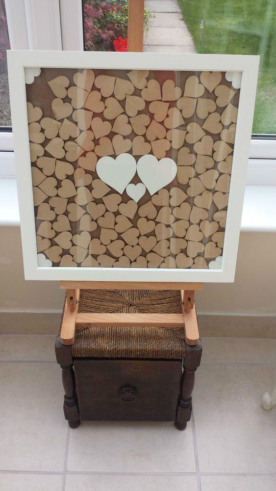 Wedding Guest Book Heart Drop Box Frame
