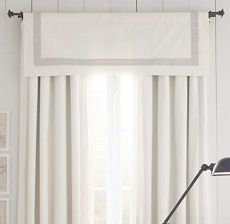 appliquéd frame cotton canvas valance
