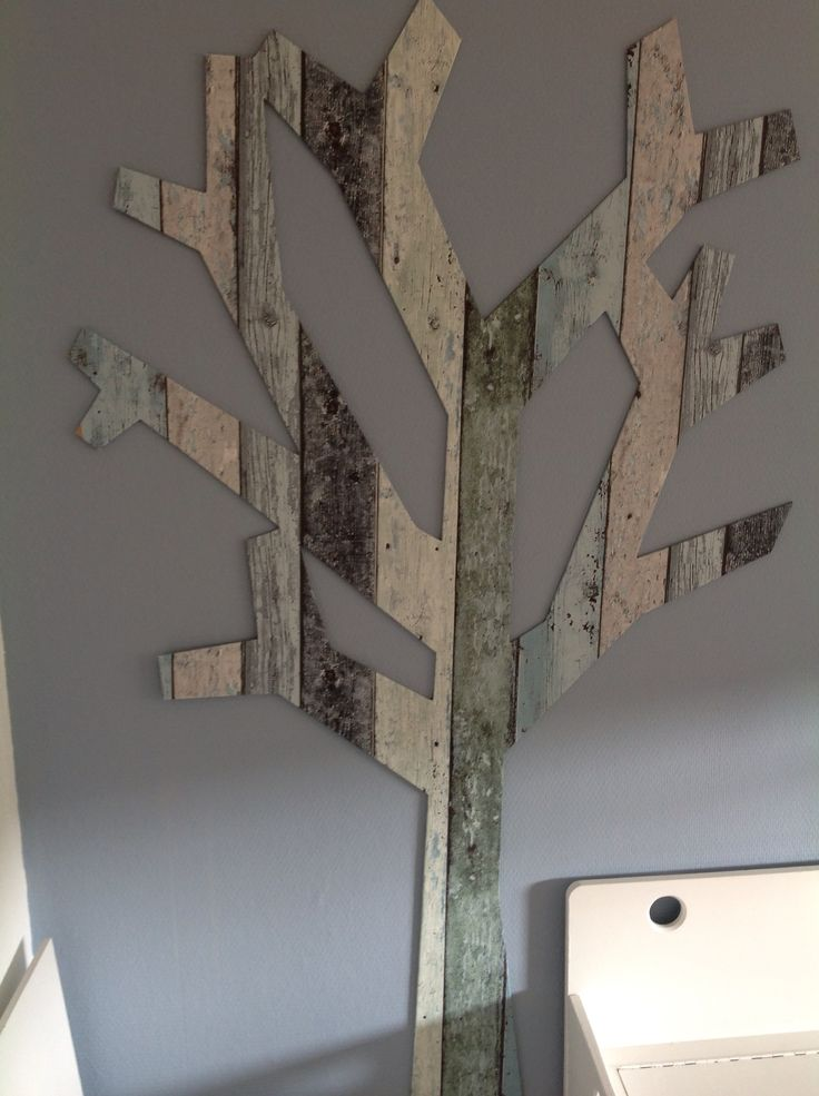 Deco boom behangen met behang!