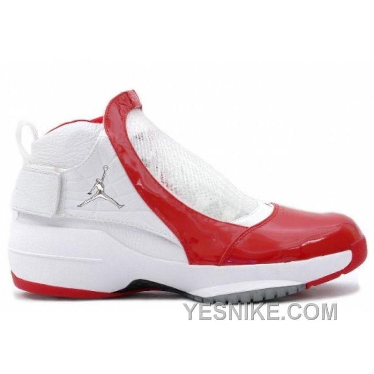 Big Discount! 66% OFF! Air Jordan 19 Original OG Midwest White Varsity Red  307546-101
