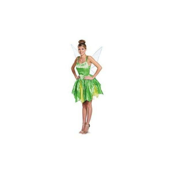 Disney Costumes (€54) ❤ liked on Polyvore featuring costumes, disney halloween costumes, disney, adult costume, disney costumes and green costumes