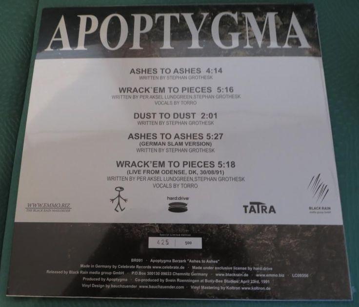 Apoptygma Berzerk - Ashes To Ashes - lim. Vinyl neu - Nr. 425/500
