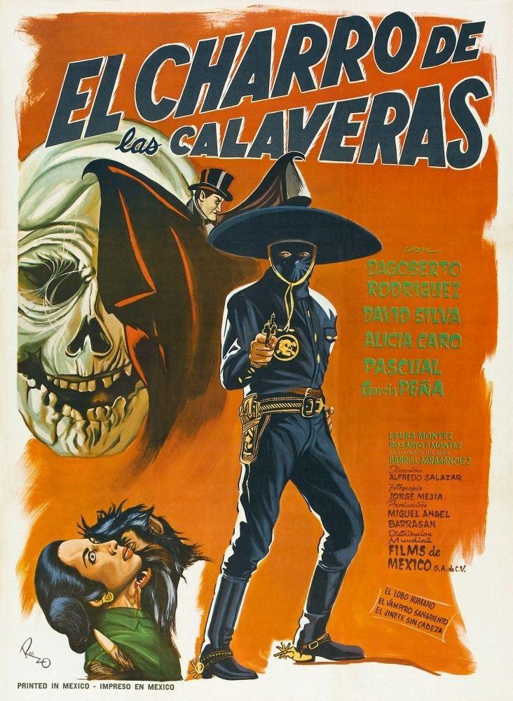 Free Shipping! El Charro De Las Calaveras Mexican Poster Dagoberto Rodriquez 1965 Movie Poster Masterprint Item #VAREVCMCDELCHEC011H | Posters and Prints from Posterazzi.com