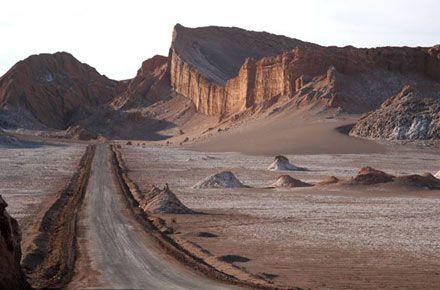 Paisaje lunar en el valle, Atacama