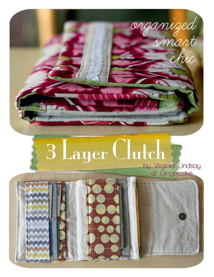 Three Layer Clutch Sewing Pattern by Gingercake Patterns