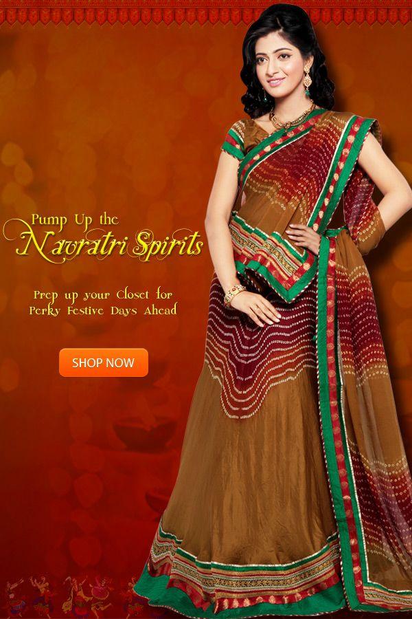 Pump Up the #Navratri #Spirits   Prep up your closet for perky #festive days ahead.