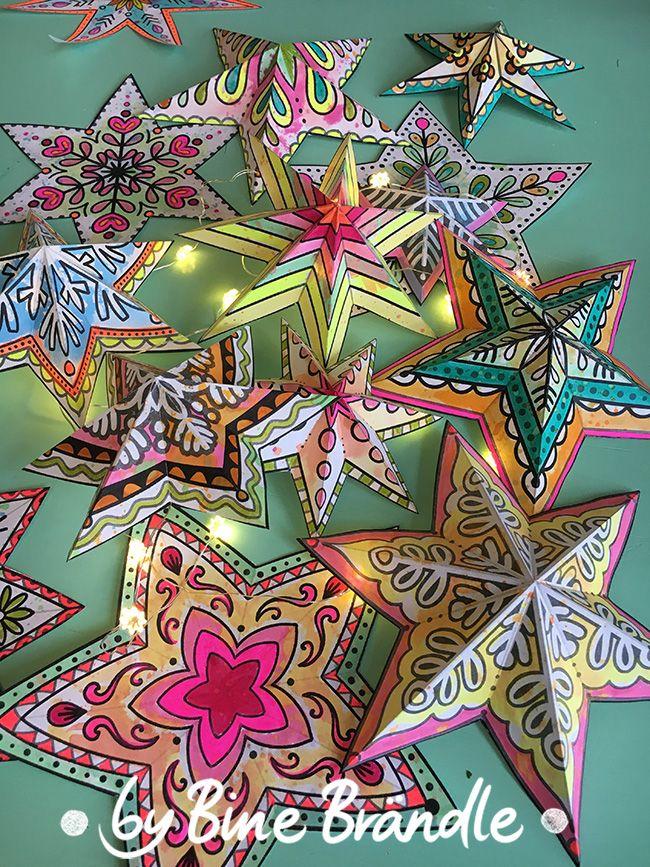 Sterne zum Ausmalen (mit Bildern) Diy