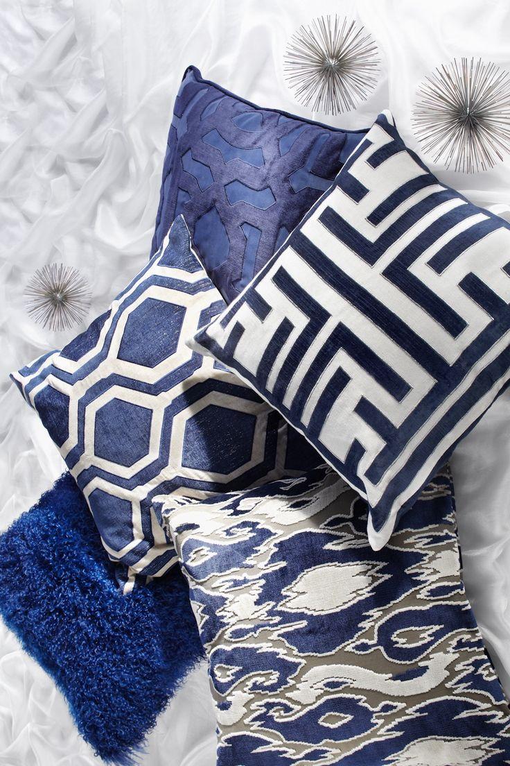 sleek sapphire pillows