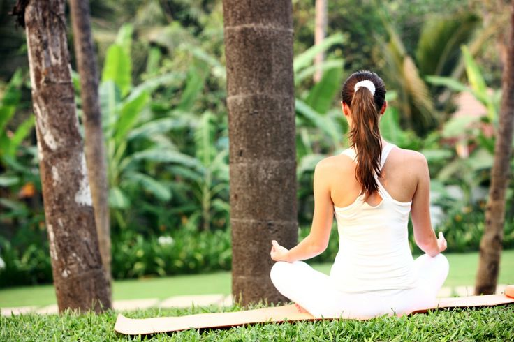 Breathing in fresh air and giving the body and mind the much needed peace and serenity #Yoga #Luxury #Goa
