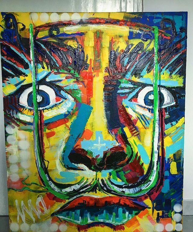 Salvador Dali/ akryl 100x80 #salvadordali #art #painter #acrylicpainting #painting #ulakaminska #clarise #passion