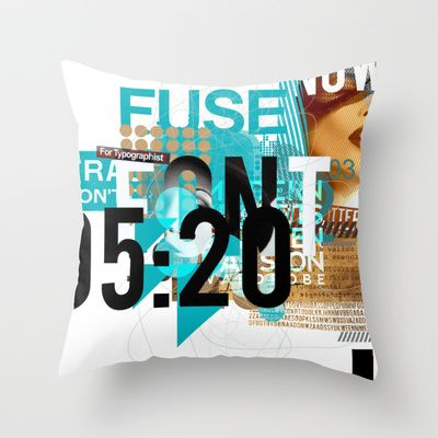 FUSE Throw Pillow by BerkKIZILAY - $20.00