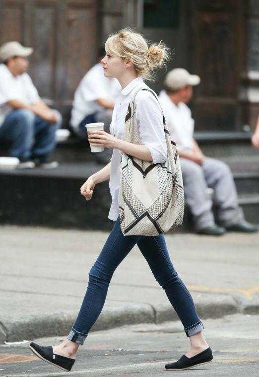 Emma Stone - blusa blanca                                                       …
