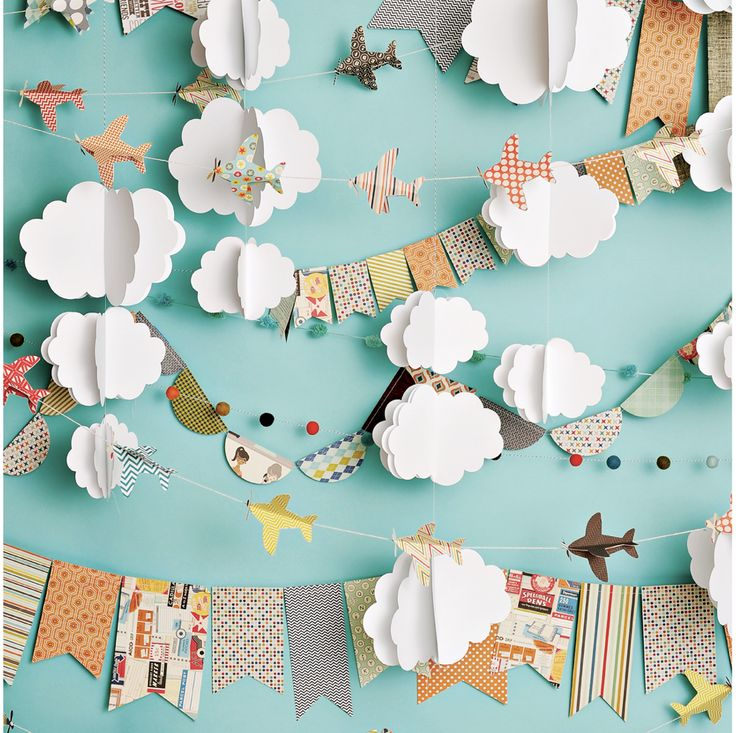 Cloudy Day Airplanes Photo Backdrop – PepperLu