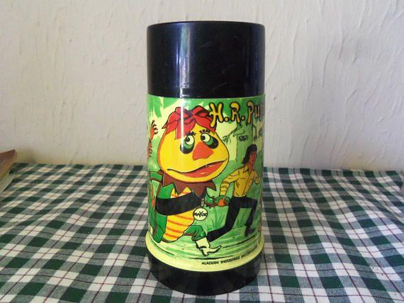 1970 Sid & Marty Krofft H R Pufnstuf Aladdin Thermos Yellow