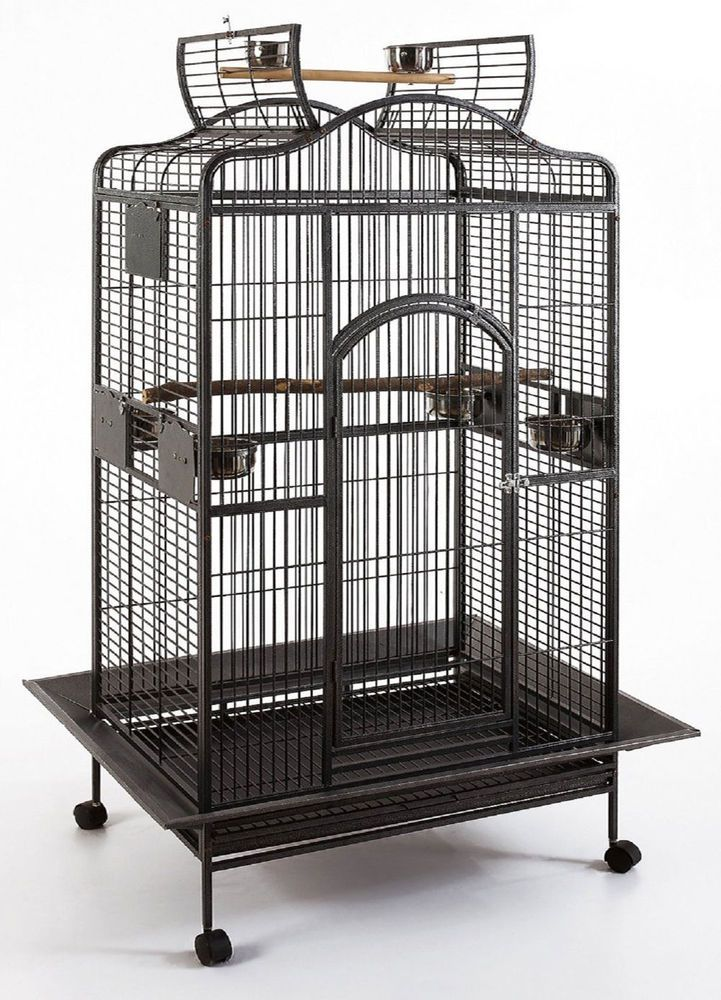 large bird cages large open play top bird parrot cage cockatiel macaw 11621