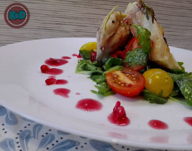 Fresh and fit chicken with salad and sauce