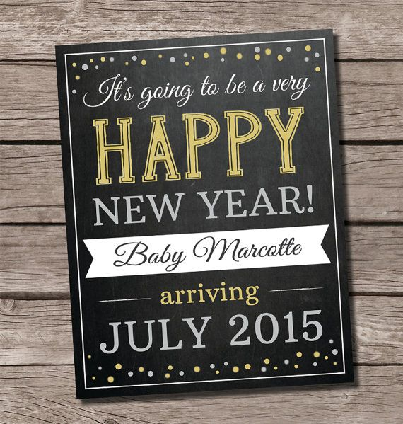 Christmas pregnancy announcement New Year by SweetfaceCelebration