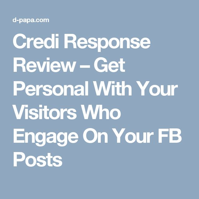 Credi Response Review – Get Personal With Your Visitors Who Engage On Your FB Posts