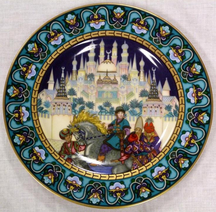 Mettlach Villeroy \u0026 Boch German porcelain Russian fairy tales plate. & 753 best DECORATIVE PLATES/CHARGERS images on Pinterest   Decorative ...