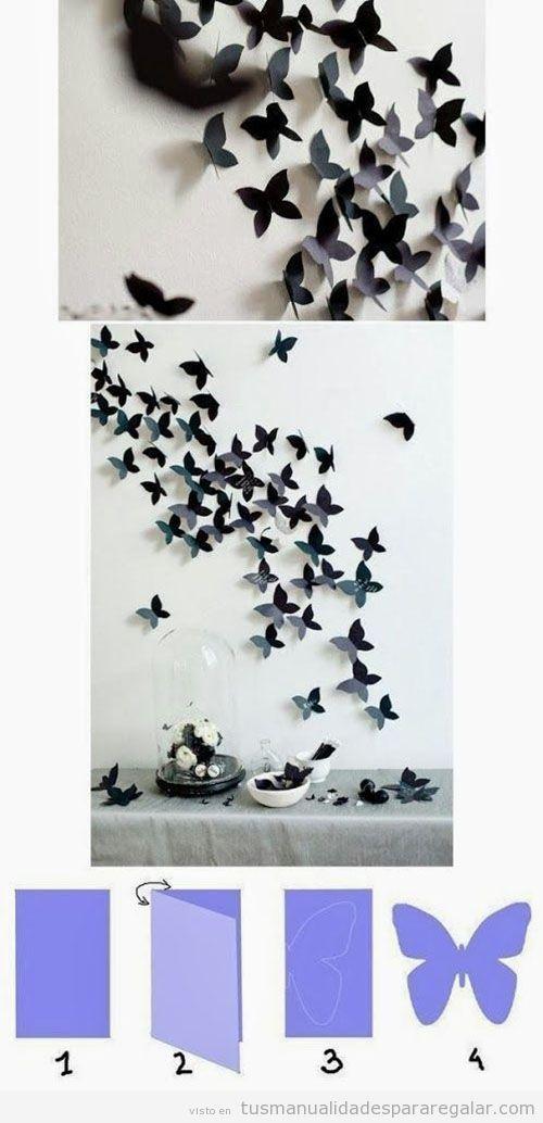 Manualidades para regalar, mariposas de cartulina