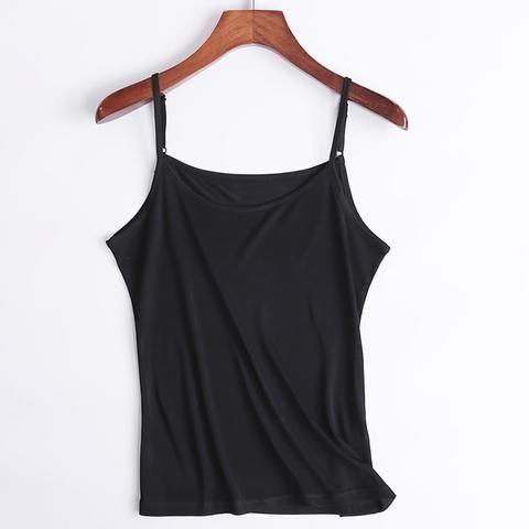 [EBay] Women Silk Camis 100% Natural Silk Basic Camisoles Comfortable Silk Tank Tops 2017 Summer Halter Top Black White Nude Pink