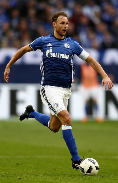 Benedikt Hoewedes of Schalke runs with the ball during the Bundesliga match between FC Schalke 04 and FC Augsburg at Veltins-Arena on March 12, 2017 in Gelsenkirchen, Germany.