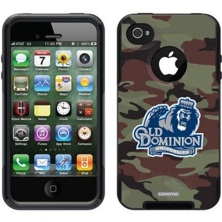 ODU Big Blue Basic Camo Design on OtterBox Commuter Series Case for Apple iPhone 4/4s
