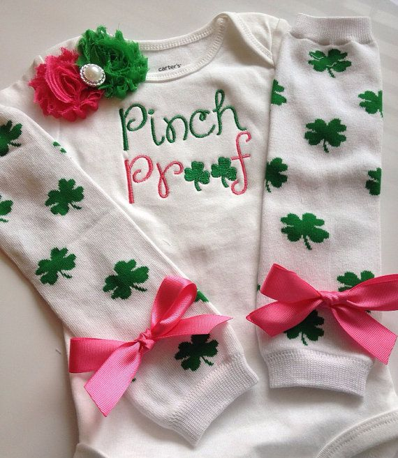 Baby girl St. Patricks Day OutfitPINCH PROOF by AboutASprout, $42.00