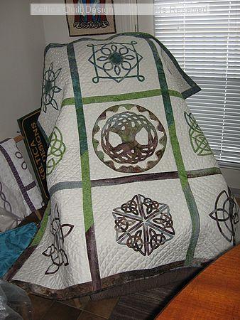 celtic quilt 2 from Jean Huntley-Maynard of Keltica Quilt Designs of Canada.