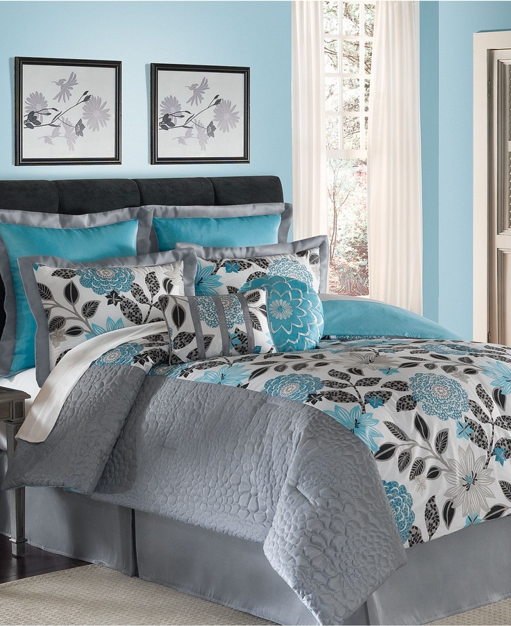 Eden teal comforter set for the home pinterest Teal bedding sets