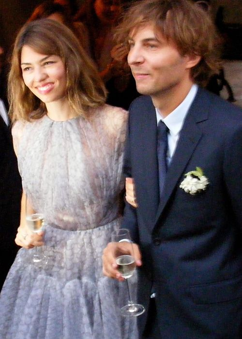 Celebrity Wedding Photos! - Sofia Coppola and Thomas Mars: August 27, 2011.Sofia Coppola and Thomas Mars: August 27, 2011 Sofia Coppola wed her longtime rocker boyfriend Thomas Mars in the remote southern Italian village of Bernalda. The bride chose a pale lavender Azzedine Alaïa frock with a subtle print.
