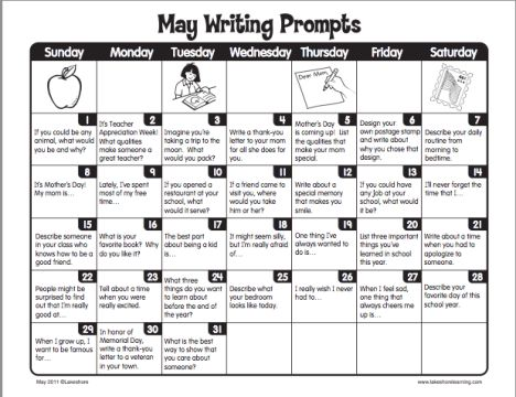 Lakeshore Learning May Writing Prompts