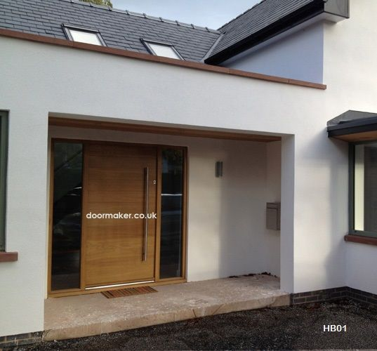 contemporary front door horizontal boarded