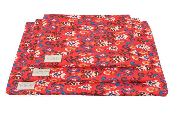 Check out Pet Pad | Ikat Print | Dog Crate Pads | Durable | Water Resistant Bottom | Dog Kennel Pad | Machine Washable | Small/Medium/Large/XL on originaldigsllc