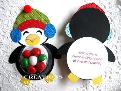 Paper Punch Art Ideas | Creations on Paper: Penguin Punch Art Projects | Stampin' Up! Ideas
