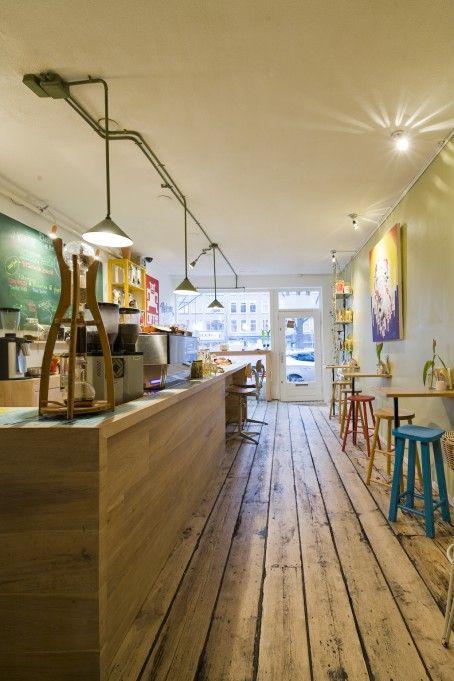 Coffee Bru. We love their coffee and cakes. Beukeplein, Amsterdam-Oost.